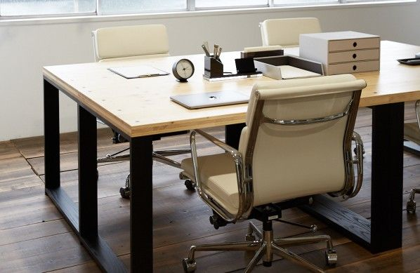 DIY FACTORY Working Desk W1000 天板:無塗装 / 脚:クリア塗装 W1000 D700 H700 EKDS1A21070 1セット