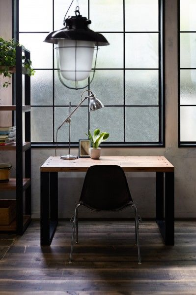 DIY FACTORY Working Desk W1000 天板:クリア塗装 / 脚:無塗装 W1000 D700 H700 EKDS2A11070 1セット