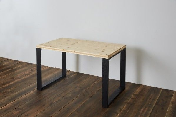 DIY FACTORY Working Desk W1000 天板:クリア塗装 / 脚:ブラウン W1000 D700 H700 EKDT2A31070 1セット
