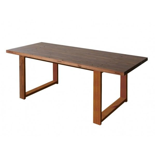 DIY FACTORY Conference Table 天板:ブラウン / 脚:ブラウン W1900 D800 H700 1セット