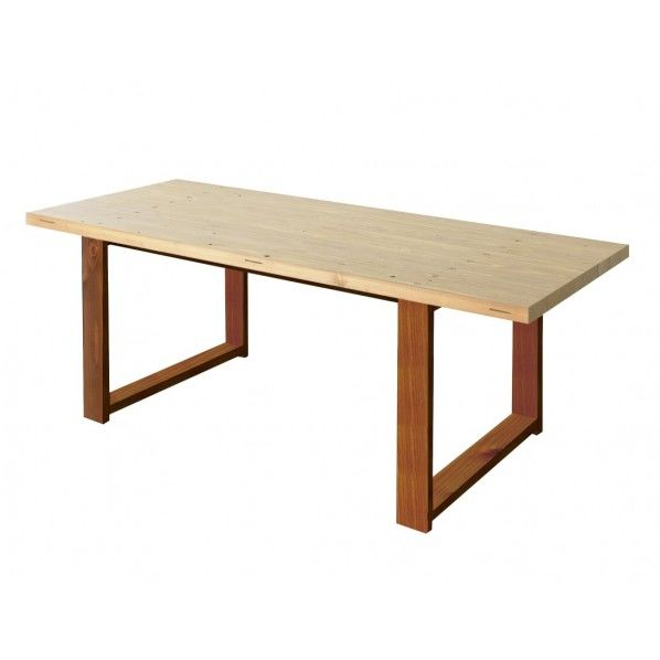 DIY FACTORY Conference Table 天板:クリア塗装 / 脚:ブラウン W1600 D800 H700 1セット