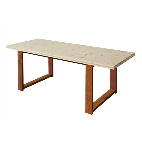 DIY FACTORY Conference Table 天板:無塗装 / 脚:ブラウン W1900 D800 H700 1セット