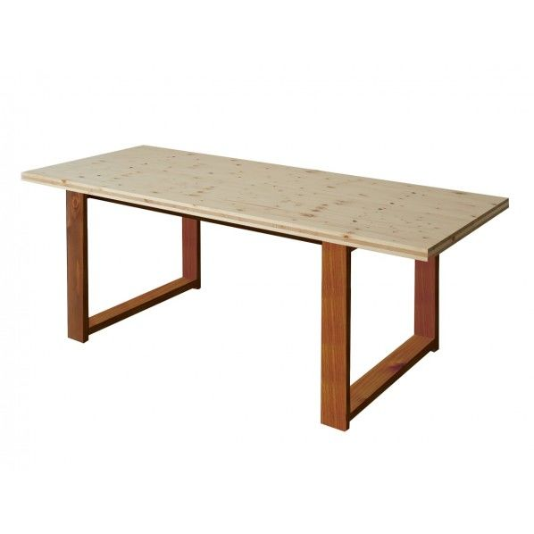 DIY FACTORY Conference Table 天板:クリア塗装 / 脚:ブラウン W1800 D800 H700 1セット