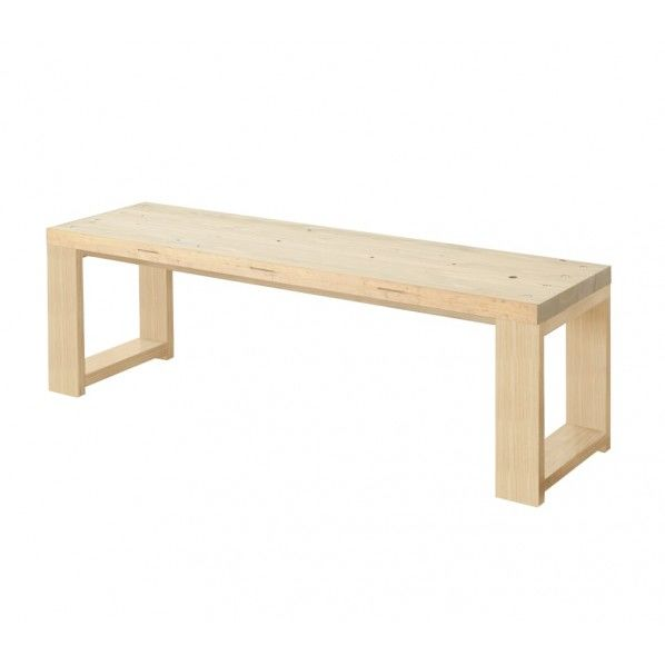 DIY FACTORY Bench 天板:無塗装 / 脚:クリア塗装 W1300 D400 H430 1セット