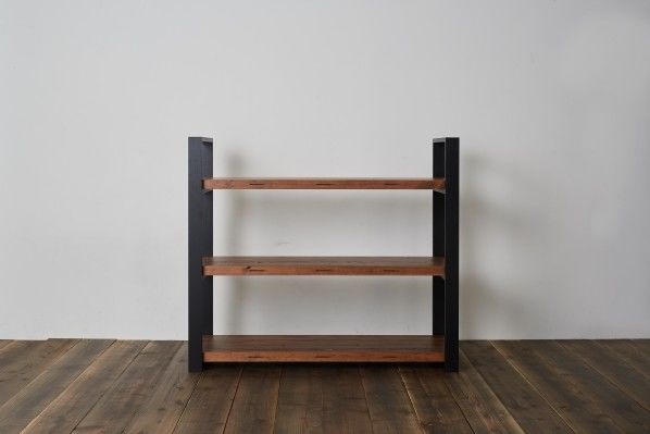 DIY FACTORY Wooden Shelf  Middle 天板:無塗装 / 脚:無塗装 W1200 D400 H1043 EKSS1A10410 1セット