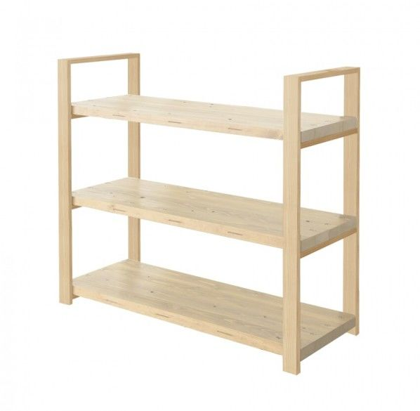 DIY FACTORY Wooden Shelf  Middle 天板:無塗装 / 脚:クリア塗装 W1200 D400 H1043 EKSS1A20410 1セット