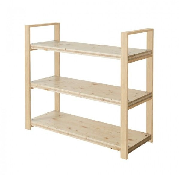 DIY FACTORY Wooden Shelf  Middle 天板:無塗装 / 脚:クリア塗装 W1200 D400 H1043 EKST1A20410 1セット